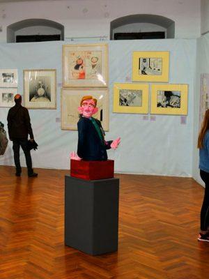"""Expoziția - ,,The Great Challenge.   O antologie internațională de caricaturi politice"""""""
